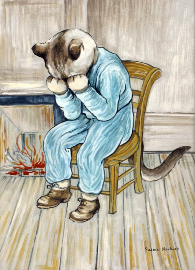 16 всемирно известных картин, героями которых выступили котики!