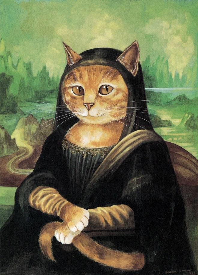 16 всемирно известных картин, героями которых выступили котики! рис 15
