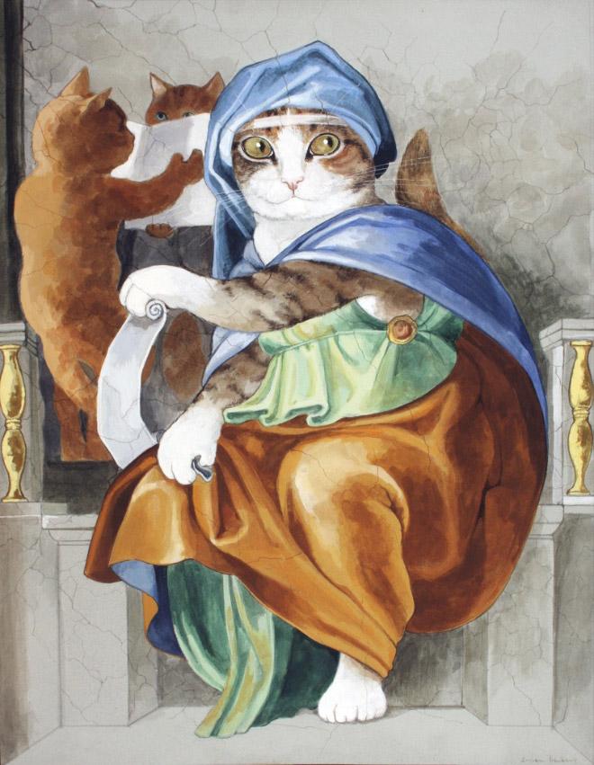 16 всемирно известных картин, героями которых выступили котики! рис 13