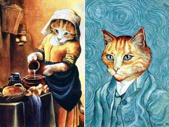 16 всемирно известных картин, героями которых выступили котики! рис 9