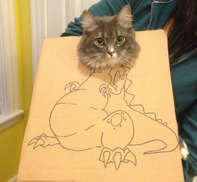 14 забавных котозавров со всего интернета! рис 14