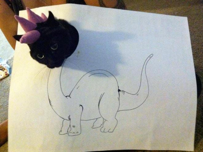 14 забавных котозавров со всего интернета! рис 9