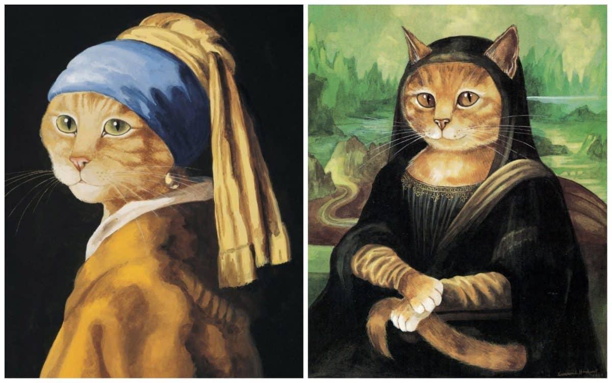 16 всемирно известных картин, героями которых выступили котики!16 всемирно известных картин, героями которых выступили котики!
