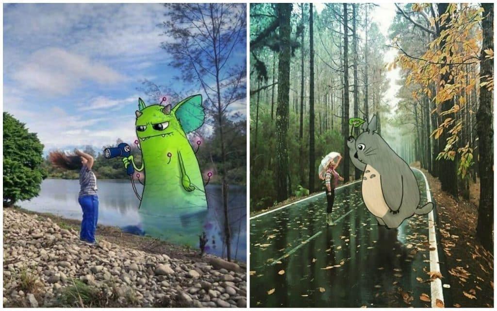 19 простых фотографий преображаются с помощью сказочных персонажей