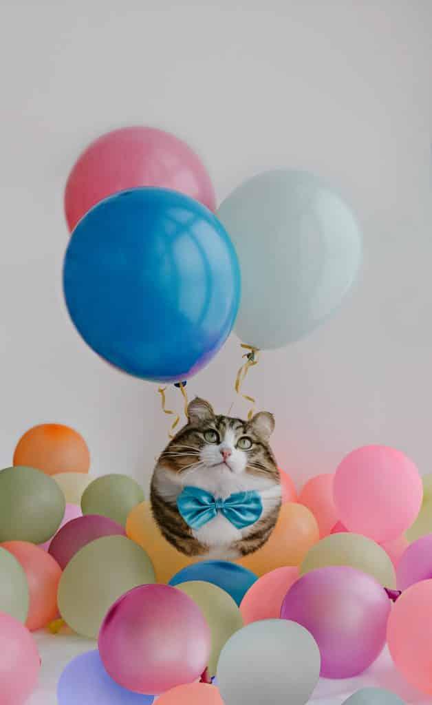 Фотограф превратил животных в воздушные шарики! Не спрашивайте ЗАЧЕМ, просто наслаждайтесь! рис 8