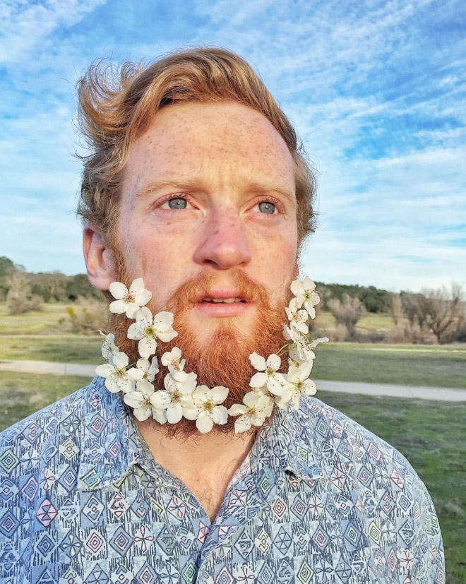 Цветы тебе в бороду! В Инстаграме новый тренд! рис 9