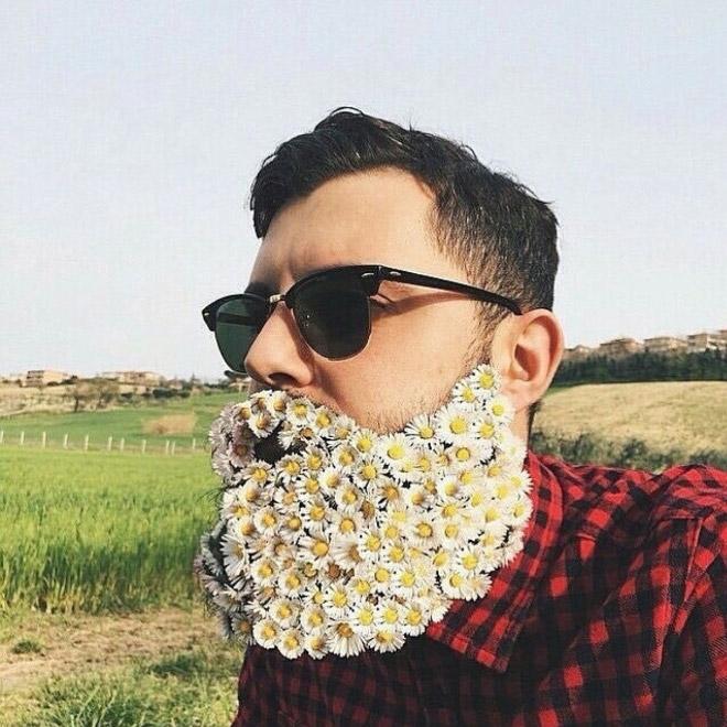 Цветы тебе в бороду! В Инстаграме новый тренд! рис 7