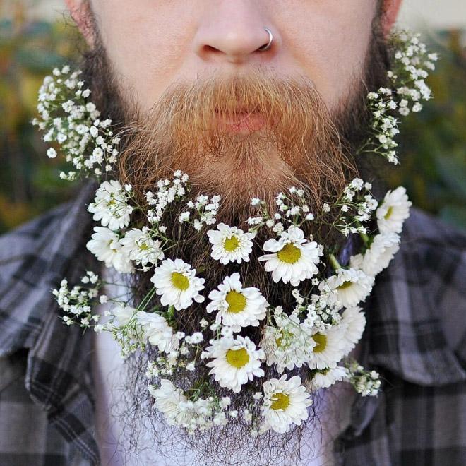 Цветы тебе в бороду! В Инстаграме новый тренд! рис 14