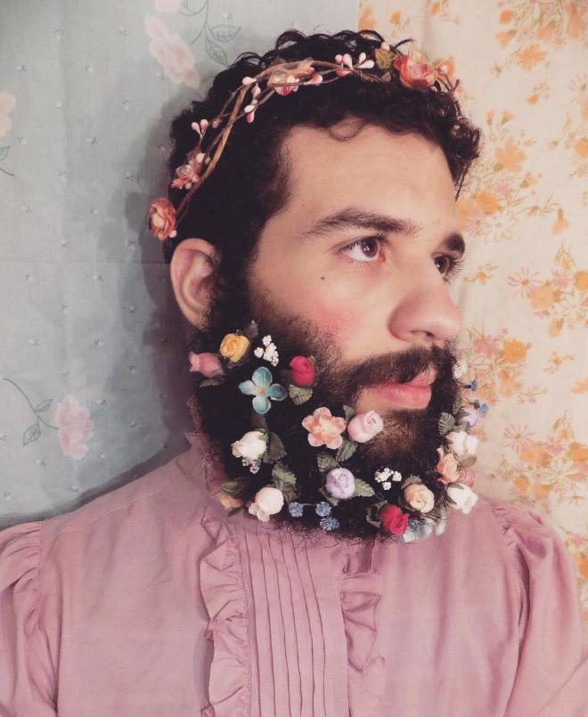 Цветы тебе в бороду! В Инстаграме новый тренд! рис 13
