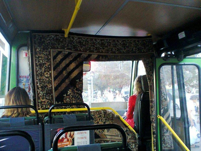 ковер в общественном транспорте
