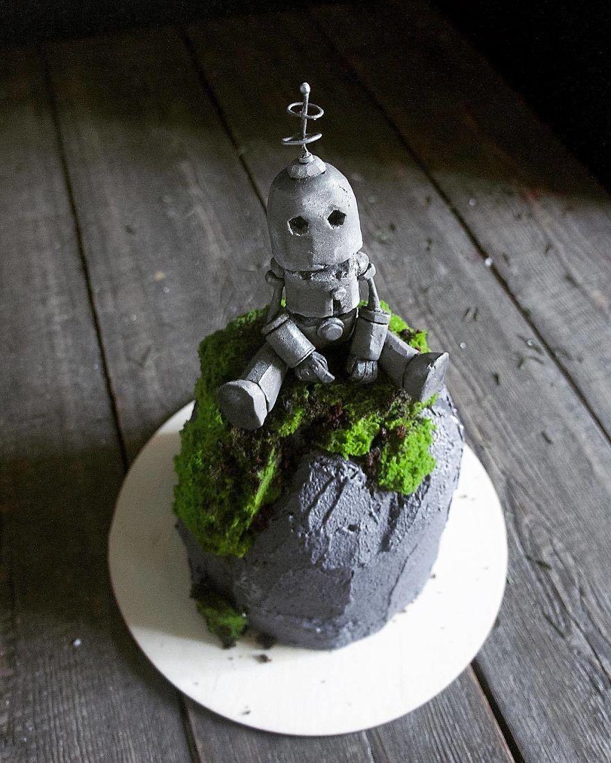 креативный торт рис 2