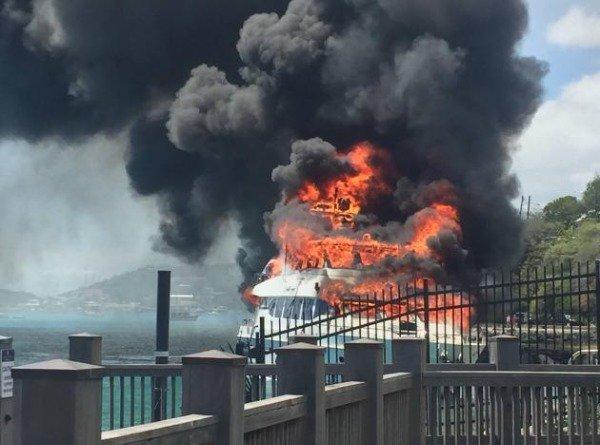 пожар на яхте
