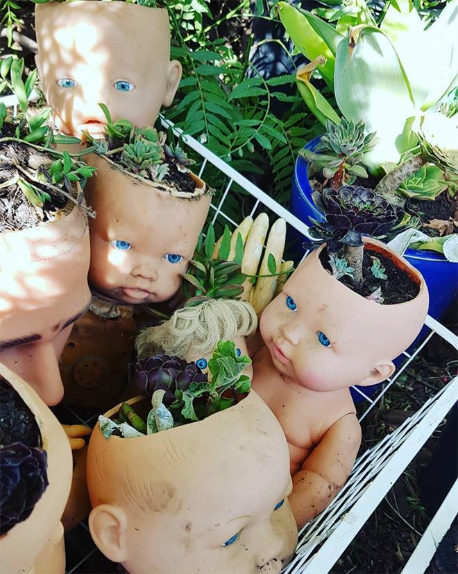 14 раз, когда головы кукол выступали в роли цветочных горшков и пугали нас до смерти! 12