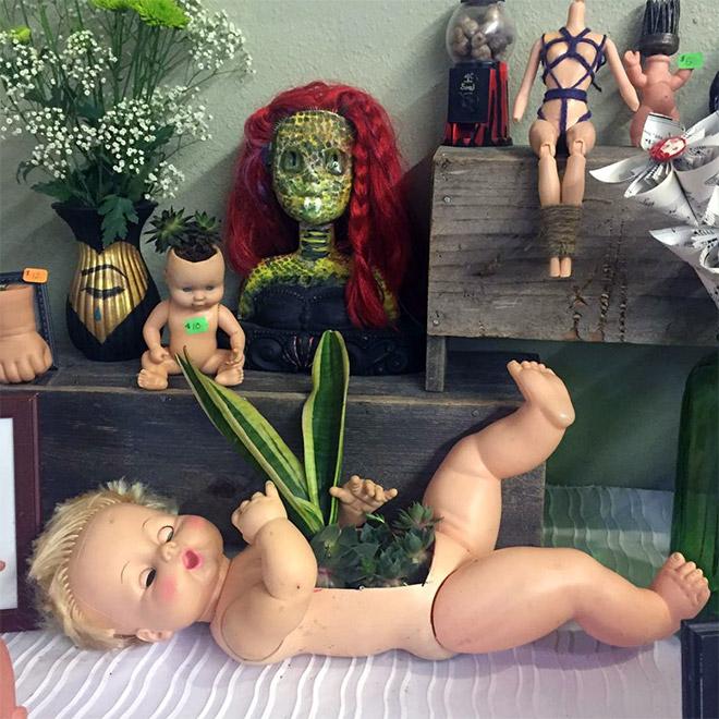 14 раз, когда головы кукол выступали в роли цветочных горшков и пугали нас до смерти! 10