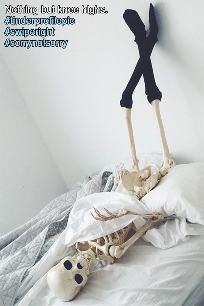 скелет в кровати