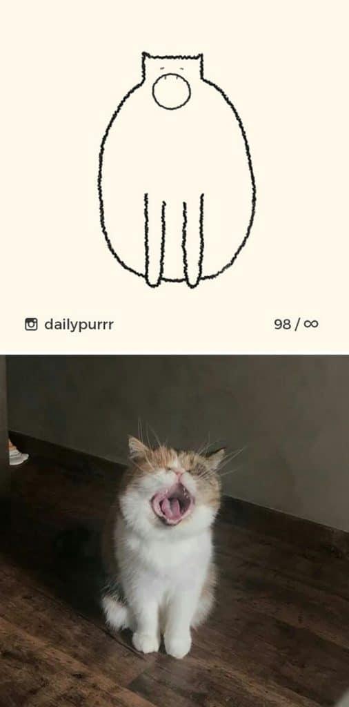рисунки котов 20