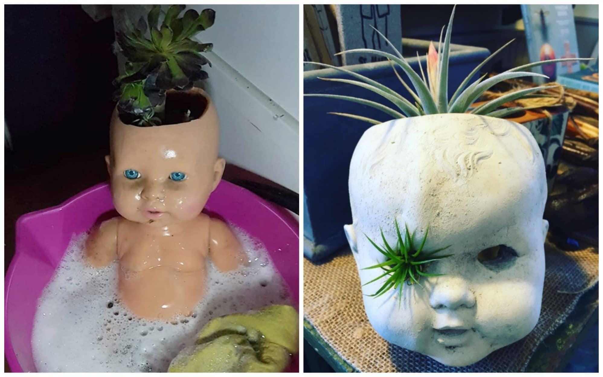 14 раз, когда головы кукол выступали в роли цветочных горшков и пугали нас до смерти!