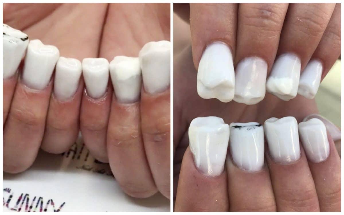 Дизайн ногтей в виде... зубов?! И это еще не самое худшее, что может быть...