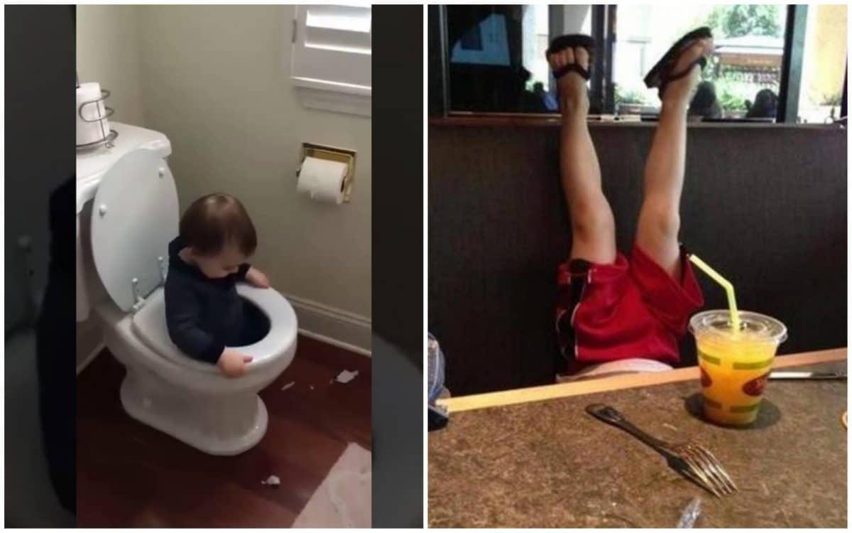 14 уморительных гифок с детскими фейлами