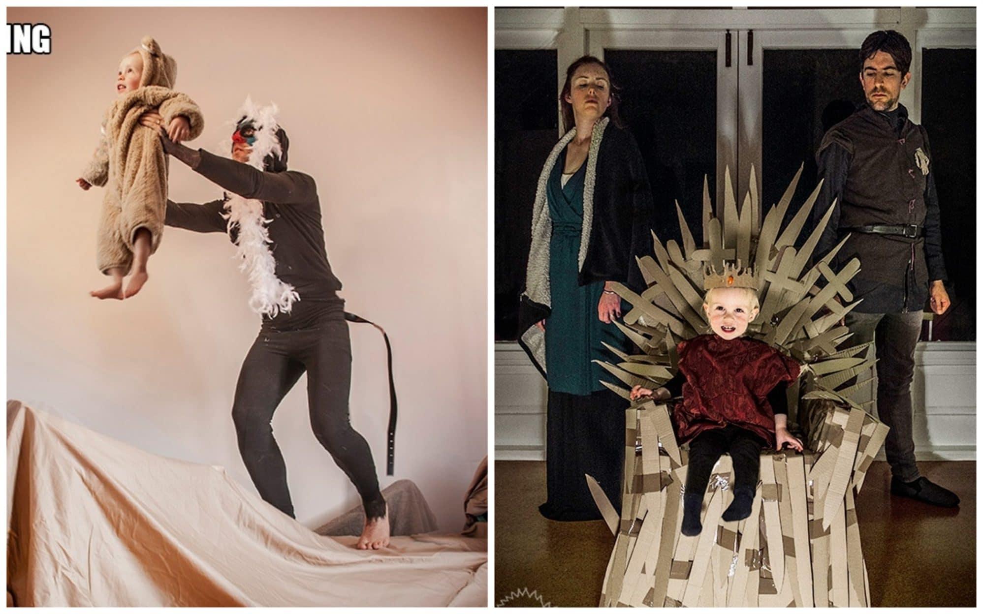 Родители воссоздают сцены из культовых фильмов с участием их сына!