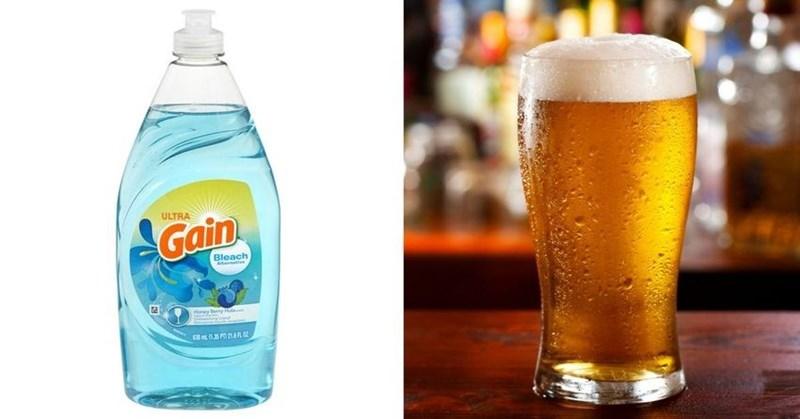 моющее средство и пиво