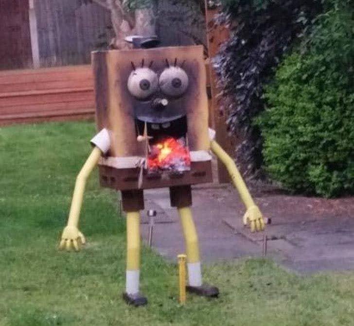 странное фото Губки Боба