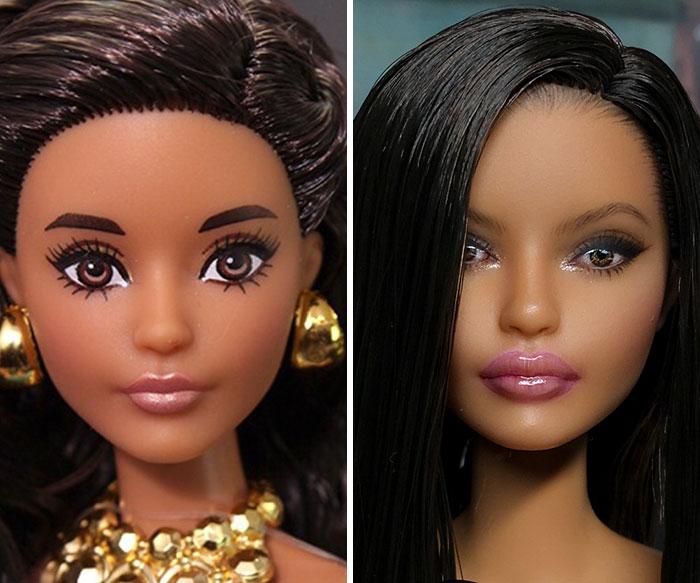 кукла с черными волосами