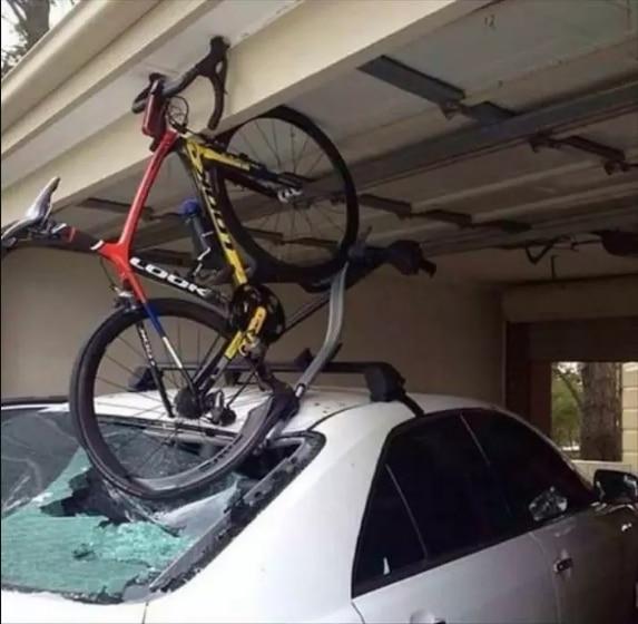 велосипед и машина