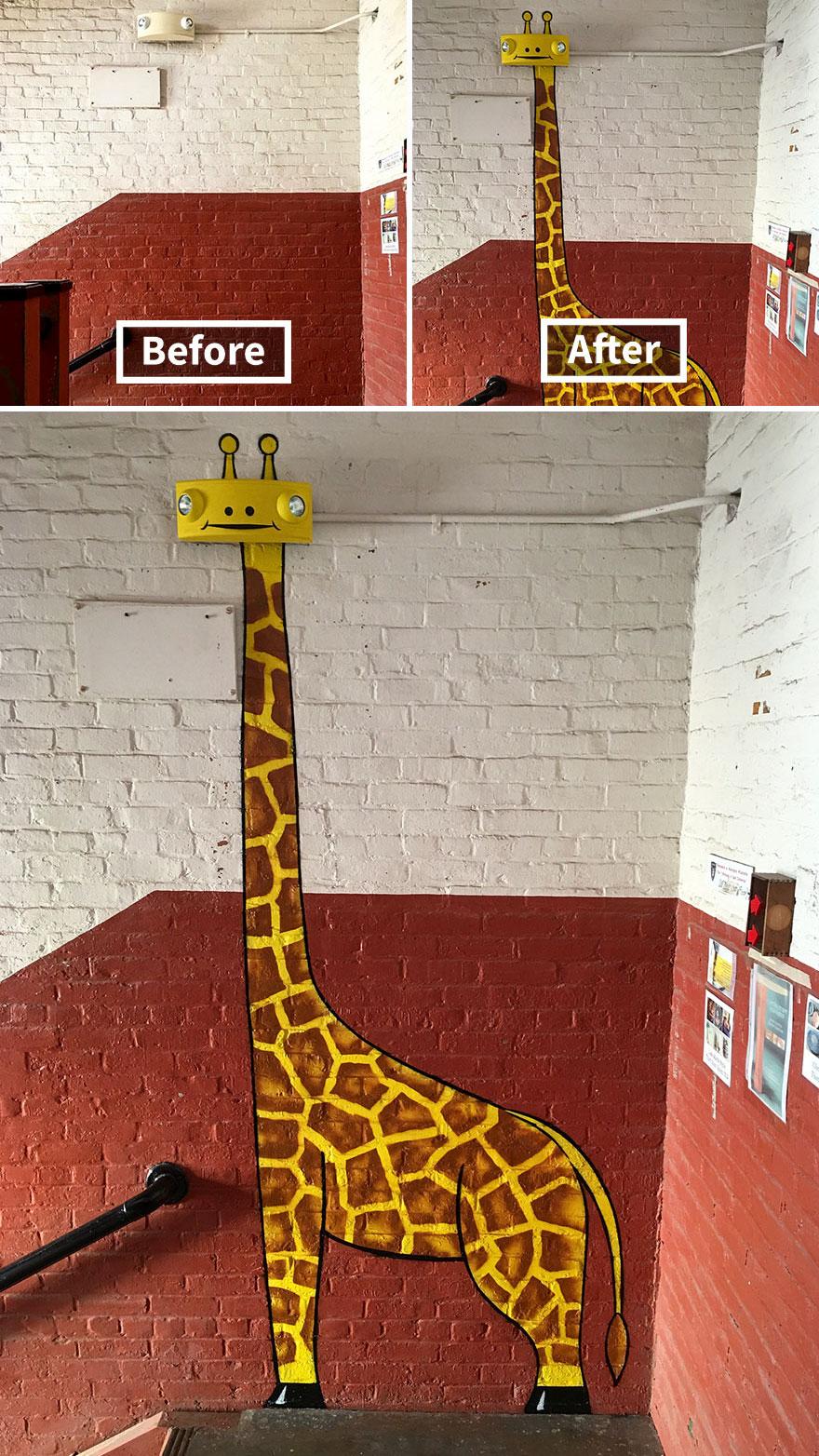нарисованный жираф