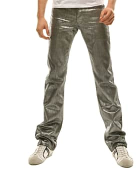 дорогие металлические джинсы