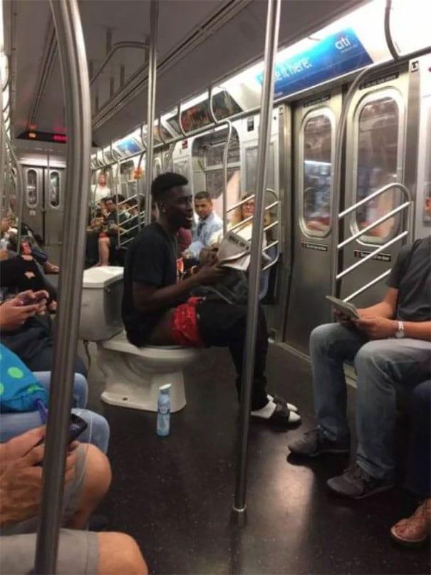 странные люди метро