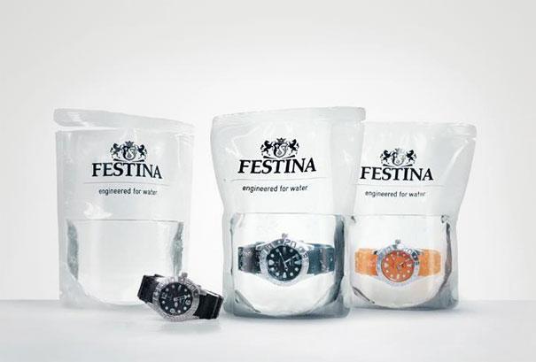 Водонепроницаемые часы, которые продаются в упаковке с водой
