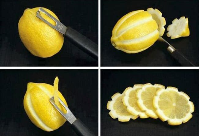 лимон и нож