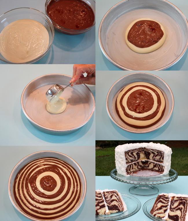 Торт-зебра