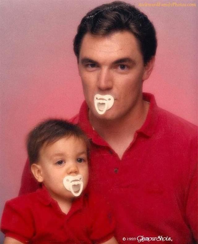 папа и сын с сосками