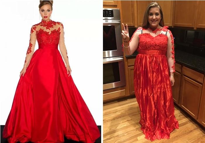красное платье рис 2