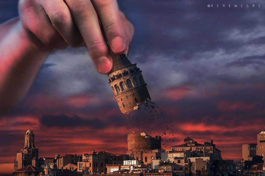 башня в руке