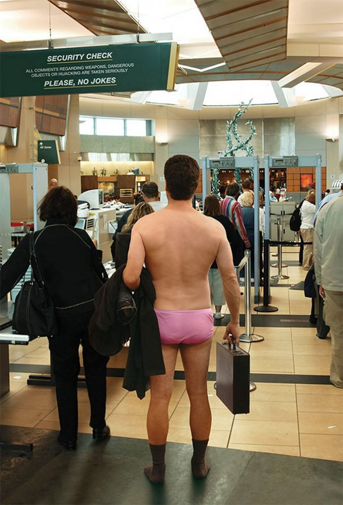 Naked airport security, easydater redhead