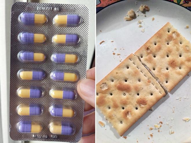 таблетки и печенье