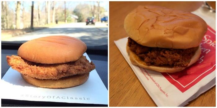 ожидание и реальность: бургер с куриной котлетой