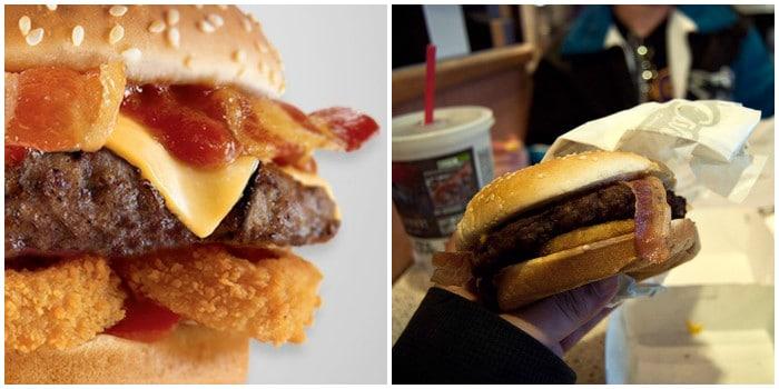 ожидание и реальность: бургер с луковыми колечками