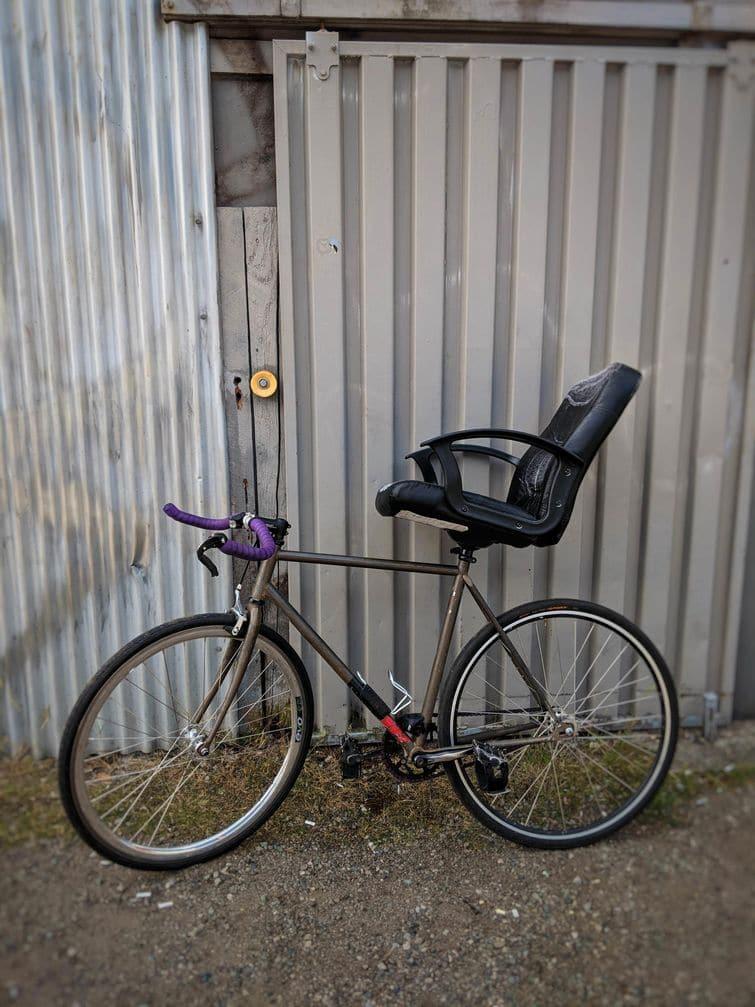 кресло вместо велосипедного сиденья