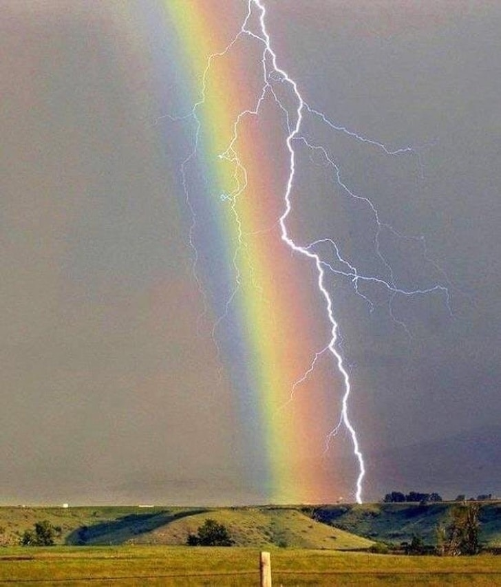 радуга и молния