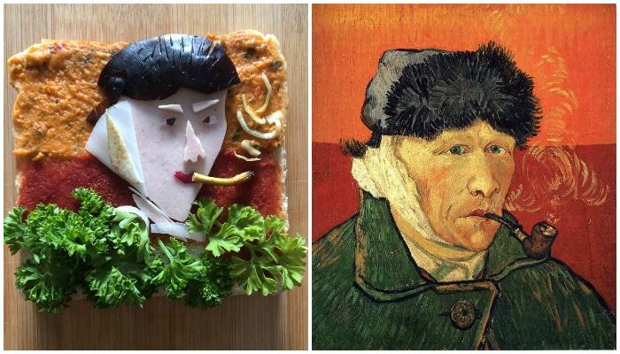 """""""Автопортрет с отрезанным ухом и трубкой""""Ван Гог"""