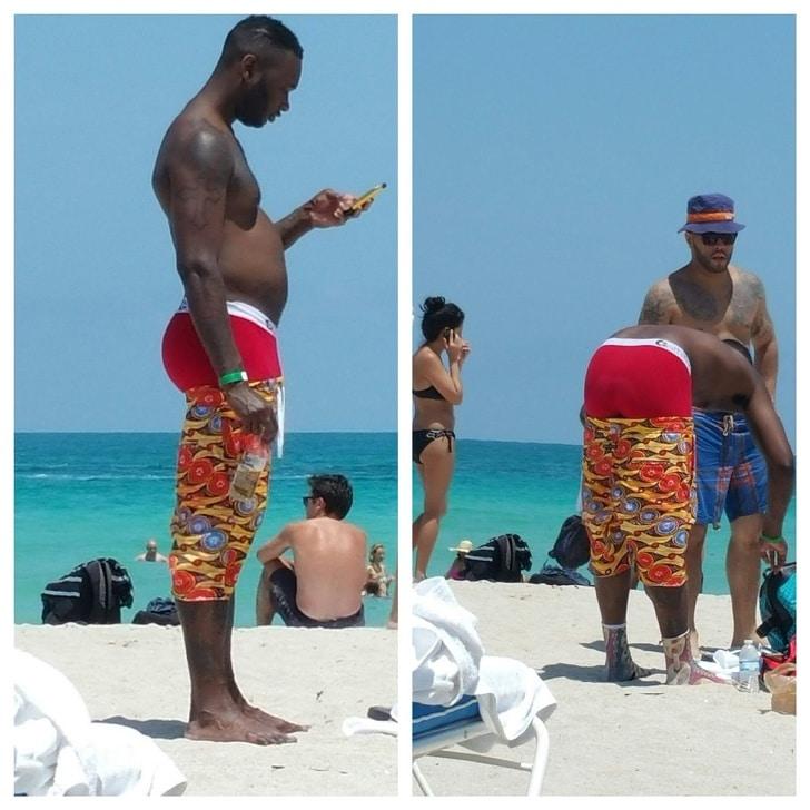 смешная пляжная мода