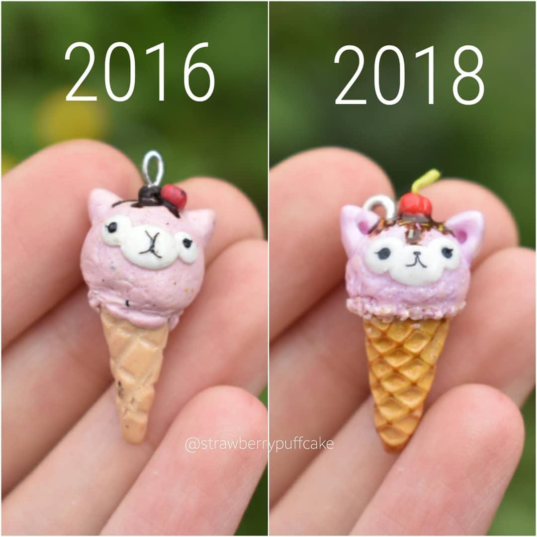 мороженое из полимерной глины