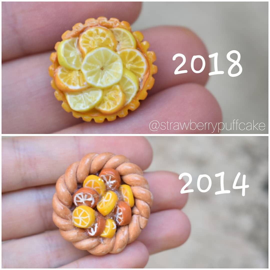 корзинка с фруктами из полимерной глины