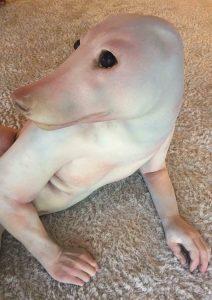 человек с головой собаки фотошоп