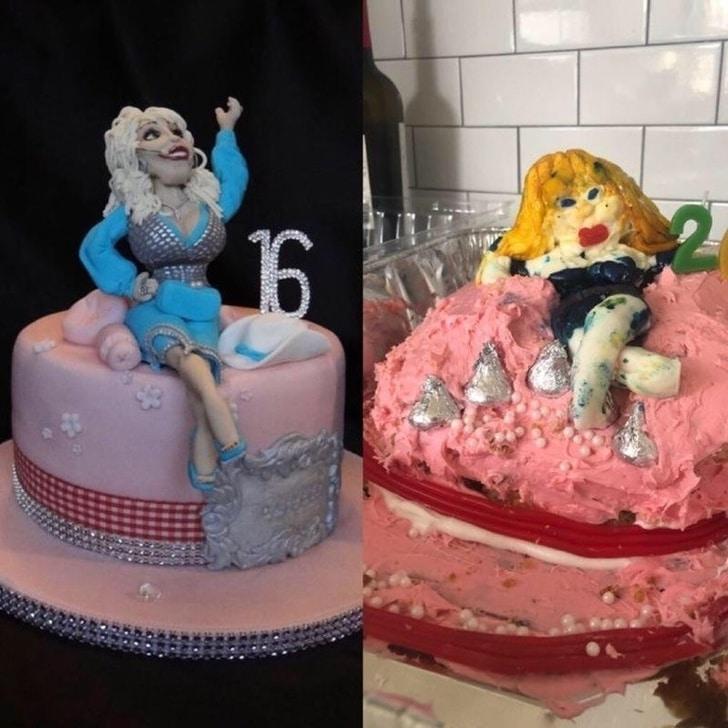 неудачный торт