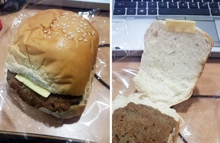 обман с бургером